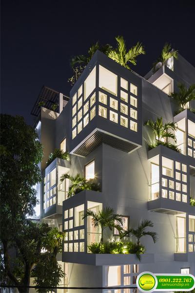 thiết kế thi công vườn trên mái 3