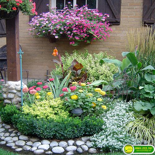 cách trang trí vườn hoa
