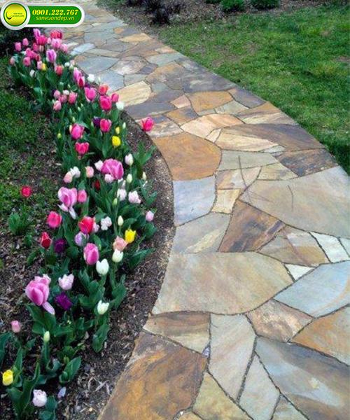 đá lót lối đi sân vườn