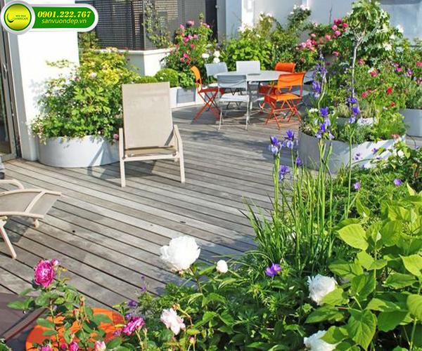 khu vườn trên sân thượng