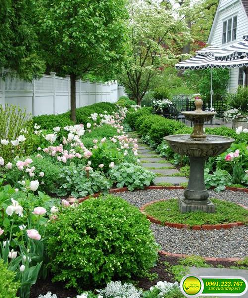 mẫu sân trước nhà đẹp