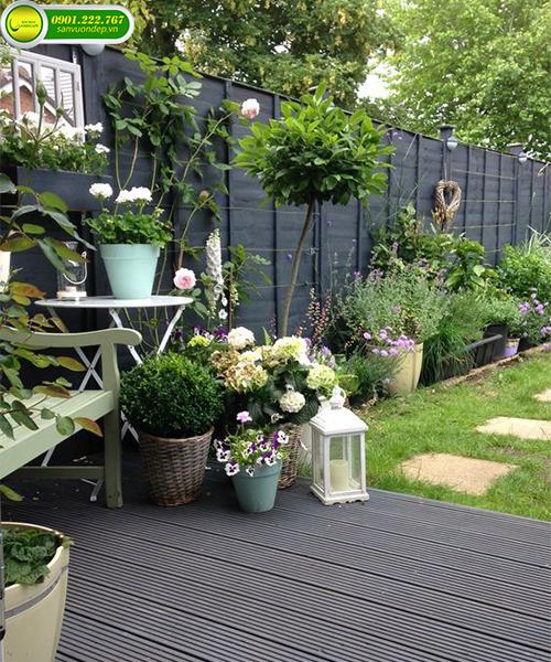 mẫu sân vườn đơn giản đẹp