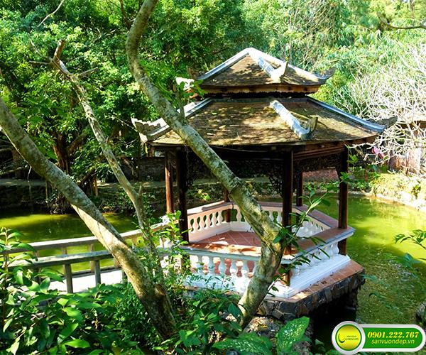 Thiết kế sân vườn phong cách truyền thống