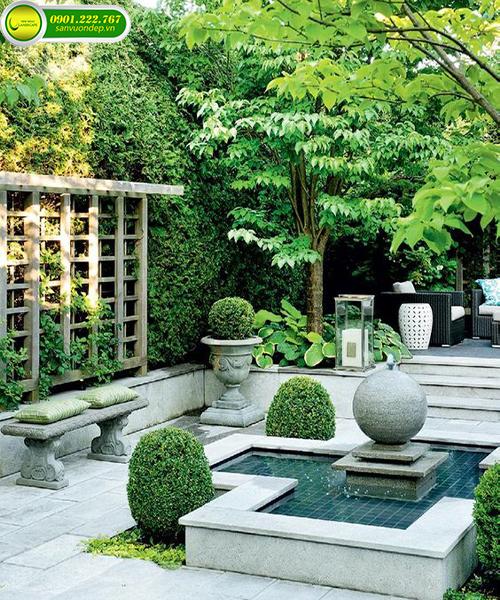 trang trí sân vườn biệt thự