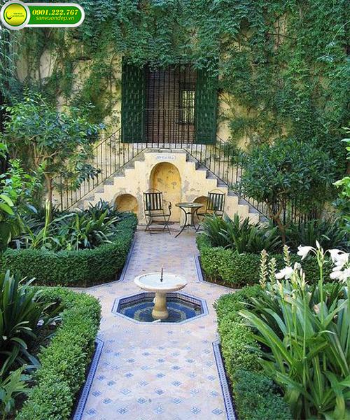 thiết kế biệt thự sân vườn đẹp