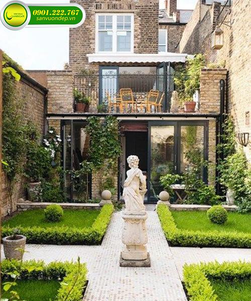 thiết kế sân vườn theo kiểu châu âu