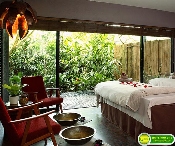 thiết kế sân vườn spa